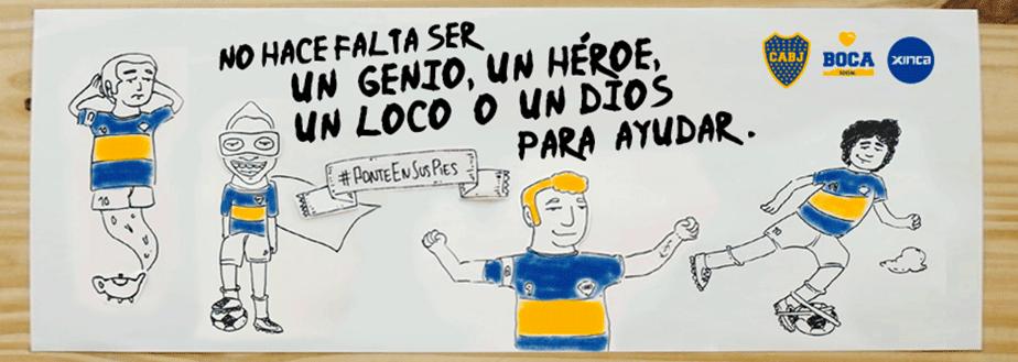Campaña Solidaria con Boca Juniors